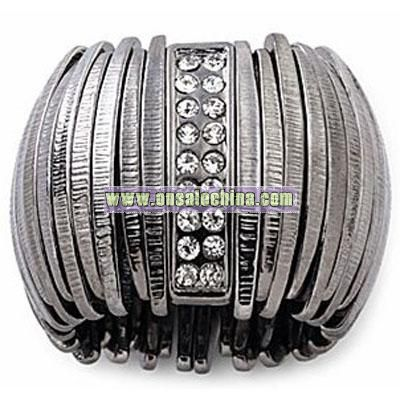 Mixit? Stretchable Hematite Metal Ring