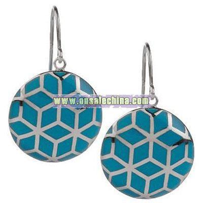 Sterling Resin Dangle Earrings