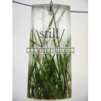 Still Grass Resin Pendant
