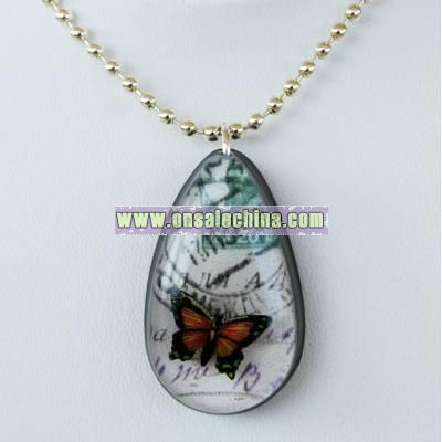 Butterfly on Vacation - Resin Pendant