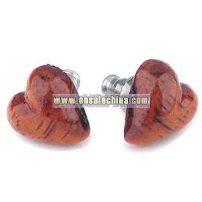 Hawaiian Koa Wood Earrings