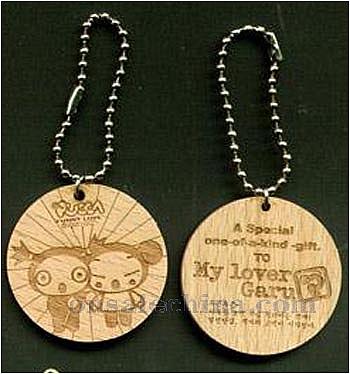 Wood keychain