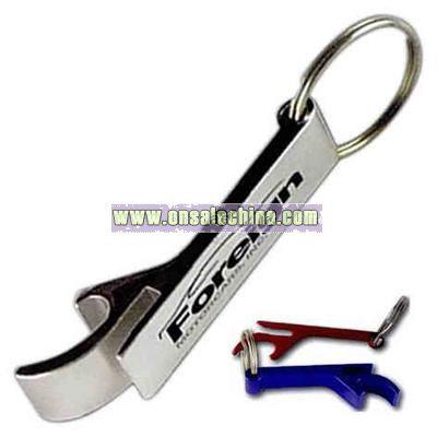 Flat shaped pop top keychain
