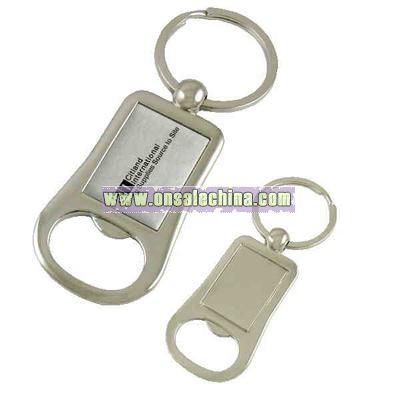 Metal bottle opener key tag