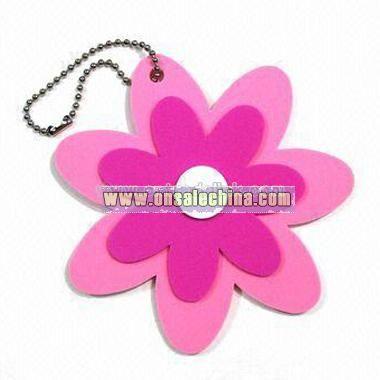 Keychain with Flower Design