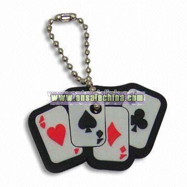 Playing Card Shape Keychain