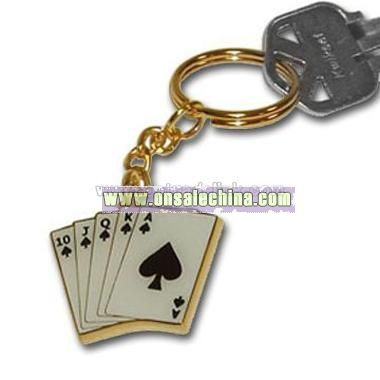 Poker Keychain in Playing Cards Design