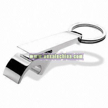 Zinc Alloy Keychain with Bottle Opener