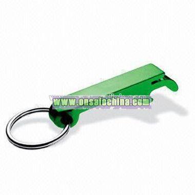 Aluminum Bottle Opener with keychain