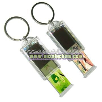 Retractable Solar Keychain