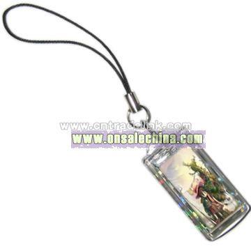 Small Size LCD Solar Keychain