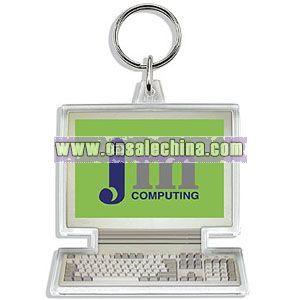 COMPUTER SHAPED ACRYLIC KEYCHAIN