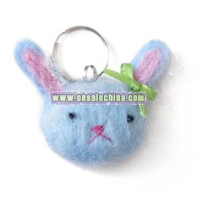 Blue Bunny Key Chain/Purse Charm