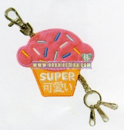 Harajuku Lovers Cupcake Patch Keychain