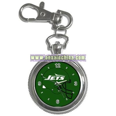 Jets Old Helmet Key Chain Pocket Watch