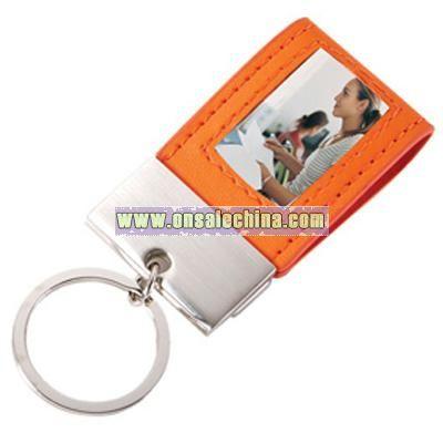 Mini Photo Leather Keychain