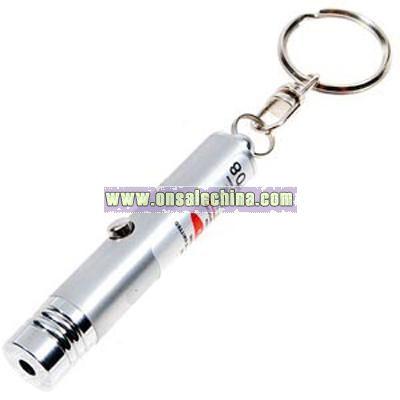 5mW Red Laser Keychain