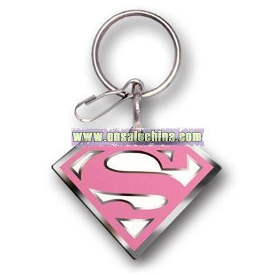 Supergirl Enamel Key Chain