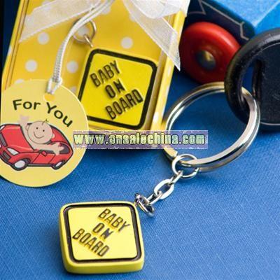 Baby on Board Keychain Favor
