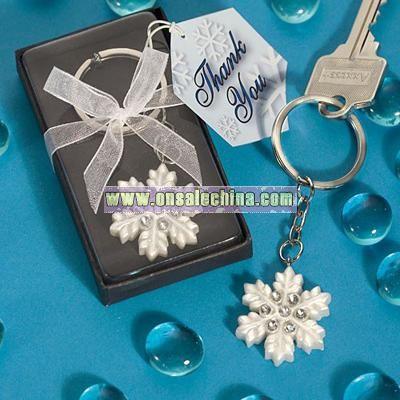 Snowflake Design Key Ring Favors