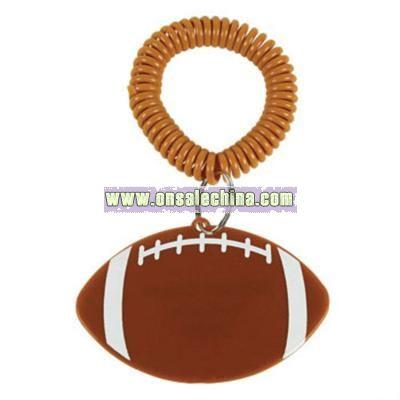 Personalized Football Bracelet Key Chains