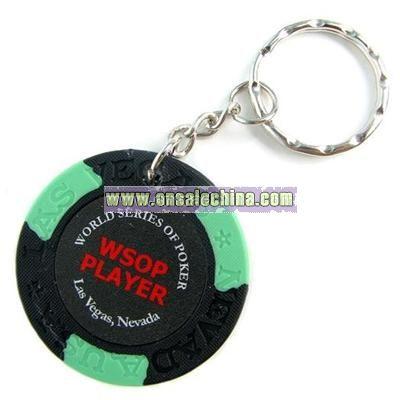 Player Black Key Chain