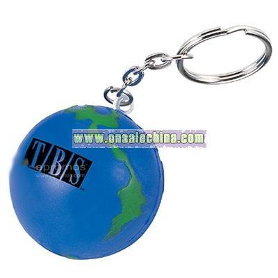 Globe Keychain Stress Ball