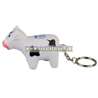 Cow Key Chain Stress Ball