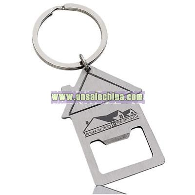 Bottle Opener Keychain - House
