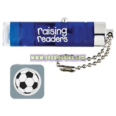 Logo Projector Laser Pointer Key Tag - One-Color