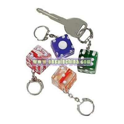 Dice Keychains - assorted color pack