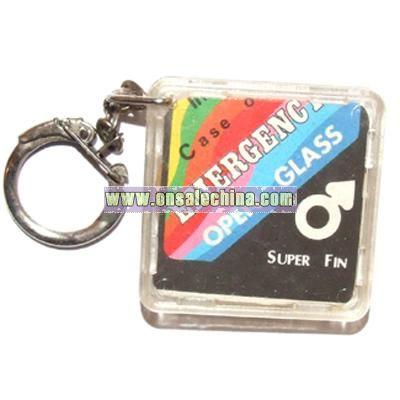 Vintage In Case of Emergency Condom Keychain