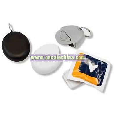 Play it Safe - Keychain with condom. Blank.
