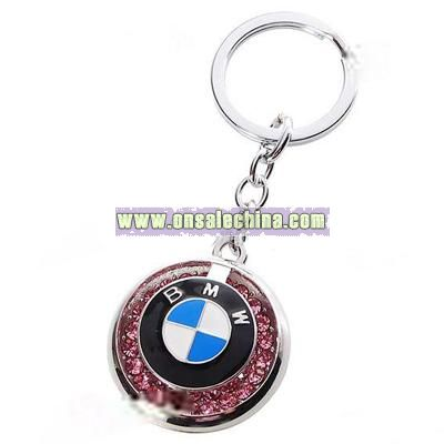 Car Mark Style Stainless Steel Keychain - BMW (Silver)