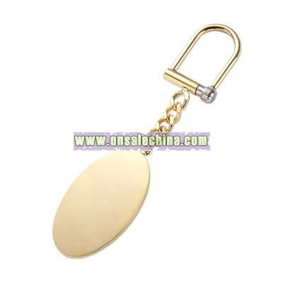 Gold Oval Chain Key Ring
