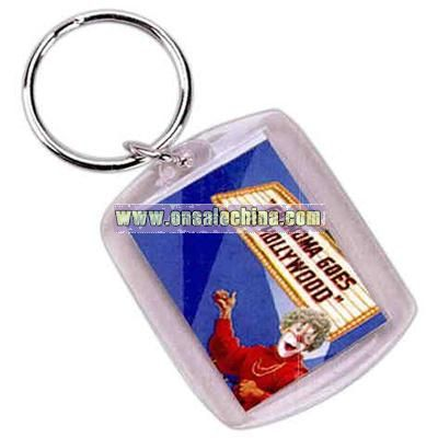Rectangular logo / photo key chain