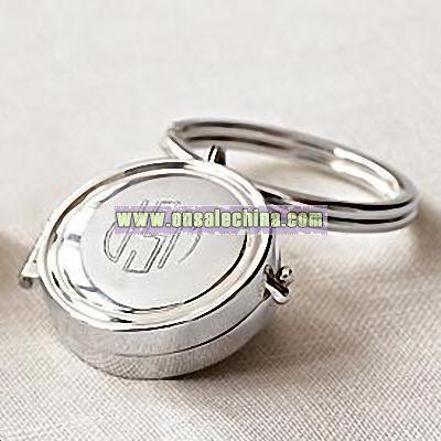 round locket key chain