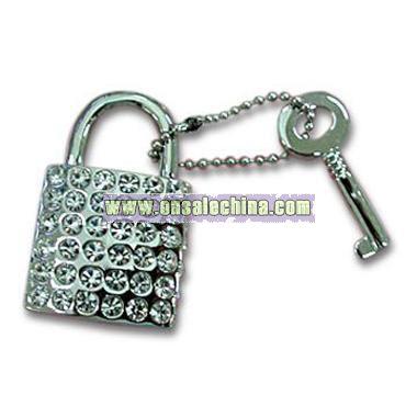 Novelty Padlock and Key Keychain