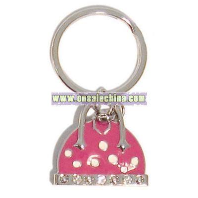 Handbag with Padlock Charm Keyring