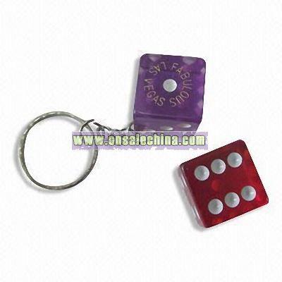 Acrylic Dice Keychain
