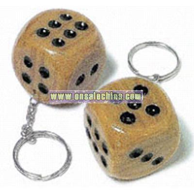 Brown dice key chain