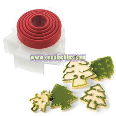 Holiday Tree Shape Cookie Cutters (set of 5)