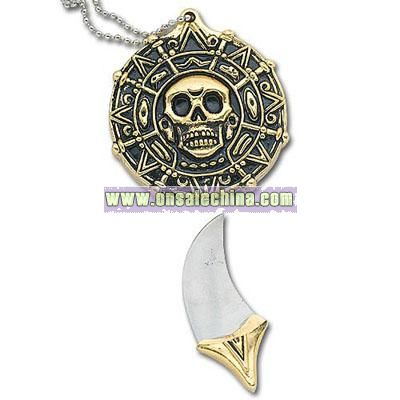 Pirate Coin Knife Necklace