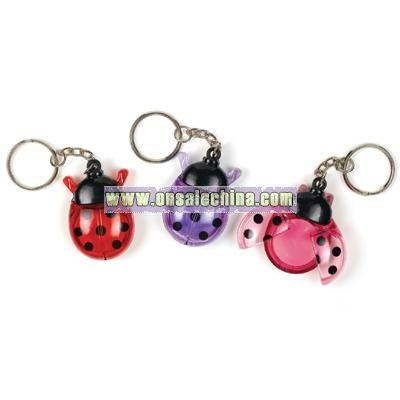 Ladybugs Lip Gloss Keychain