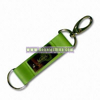 Short Strap Lanyard with Rubber Label