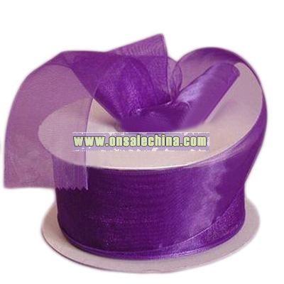 Purple Sheer Ribbon Purple Sheer Organza Ribbon