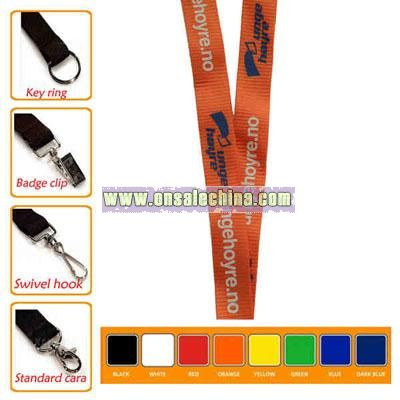 Nylon lanyard with bulldog clip attachments