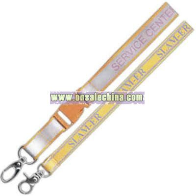 Ultra smooth reflective lanyard