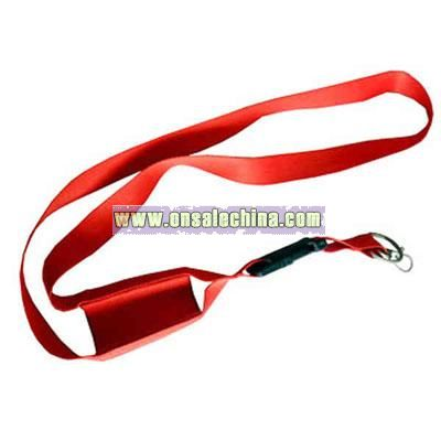 Lanyard with cell phone holder