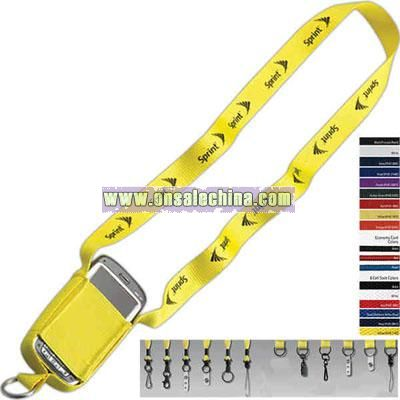 Polyester cell phone lanyard
